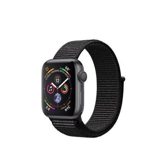 Смарт-часы Apple Watch Series 4 GPS 40mm Gray Alum. w. Black Sport l. Gray Alum. (MU672)