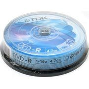 фото TDK DVD-R 4,7GB 16x Cake Box 10шт
