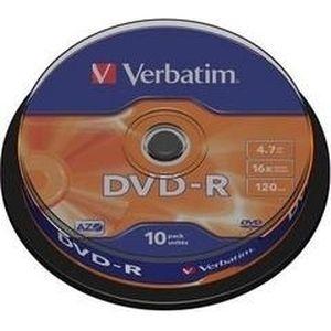 фото Verbatim DVD-R 4,7GB 16x Cake Box 10шт (43523)