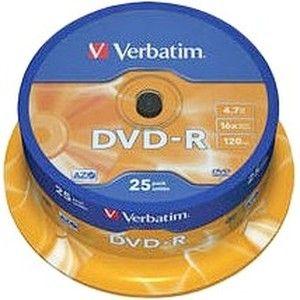 фото Verbatim DVD-R 4,7GB 16x Spindle Packaging 25шт (43522)