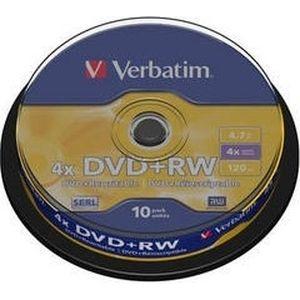 фото Verbatim DVD+RW 4,7GB 4x Cake Box 10шт (43488)