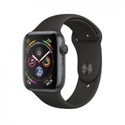 фото Apple Watch Series 4 (GPS) 44mm Space Gray Aluminum w. Black Sport Band MU6D2