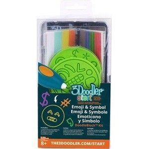 фото 3Doodler Набор аксессуаров для 3D ручки START ЭМОДЖИ, 48 стержней, 2 шаблона (3DS-DBK-SY)