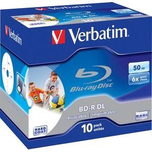 фото Verbatim BD-R DL Printable 50GB 6x Jewel Case 10шт (43736)