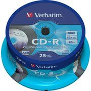 фото Verbatim CD-R Printable 700MB 52x Spindle Packaging 25шт (43710)
