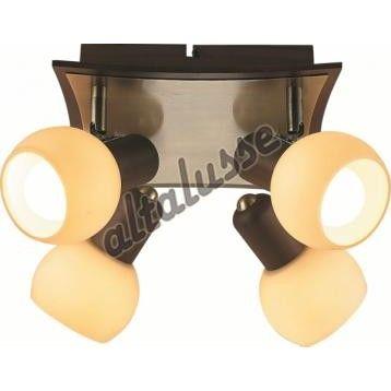 Altalusse Спот INL-9275С-04 Antique brass & Walnut (8599879903519)