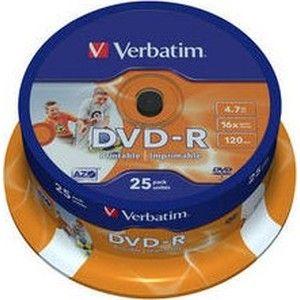 фото Verbatim DVD-R Printable 4,7GB 16x Spindle Packaging 25шт (43538)