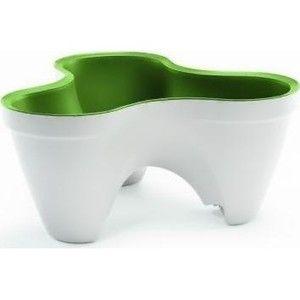 фото Time Eco Горшок для цветов IVY Planter, бело-зеленый (17196813450)