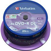 фото Verbatim DVD+R DL 8,5GB 8x Spindle Packaging 25шт (43757)