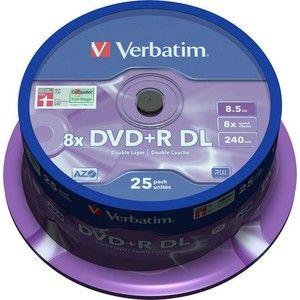 фото Verbatim DVD+R DL 8,5GB 8x Spindle Packaging 25шт (43757)