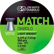 фото JSB Пули Green Match Diabolo Light 4.5 мм, 0.475 г, 500 шт.