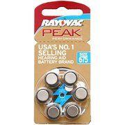 фото RAYOVAC ZA675 bat(1.4B) Zinc Air 6шт