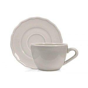 фото Duka Чашка для чая с блюдцем Emma серая 550 мл 1212346