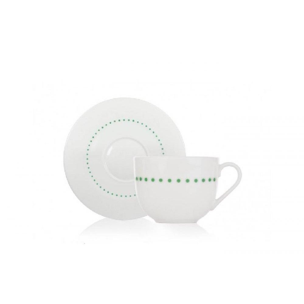 Duka Чашка для чая с блюдцем Felicia Dots 200 мл 1211178