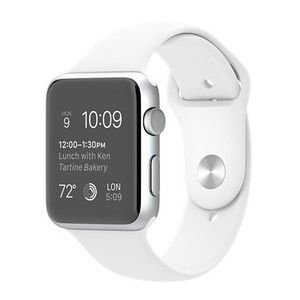 фото Apple 42mm Silver Aluminum Case with White Sport Band (MJ3N2)