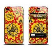 фото Qsticker Виниловая наклейка для iPhone 4S Hohloma Yellow