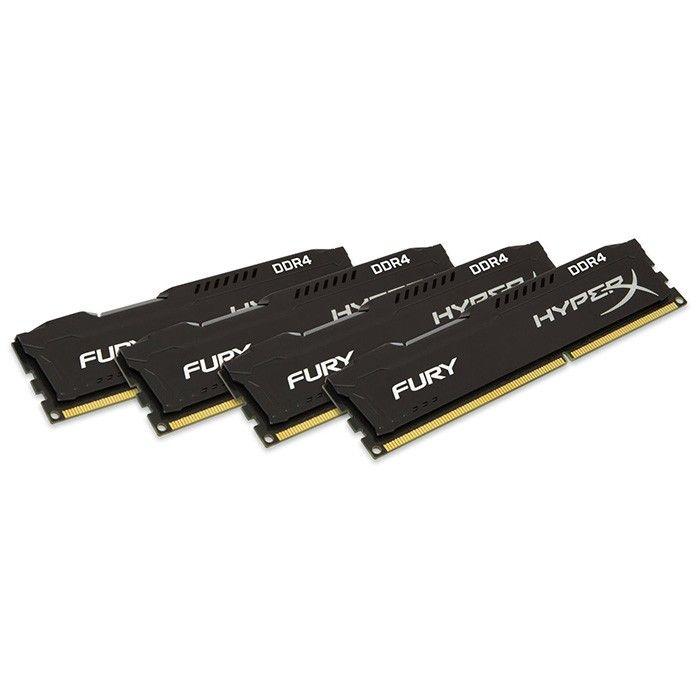 Kingston 32 GB (4x8GB) DDR4 2666 MHz HyperX Fury Black (HX426C16FB2K4/32)