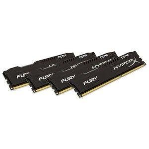 фото Kingston 32 GB (4x8GB) DDR4 2666 MHz HyperX Fury Black (HX426C16FB2K4/32)