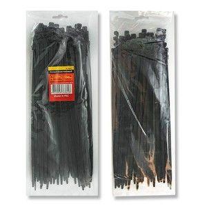 фото Intertool Хомут пластиковый 3,6x300мм, (100 шт/упак), черный (TC-3631)