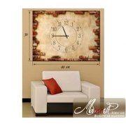 "фото Картина с часами ""Штукатурка и кирпичная кладка"" cha2-10"