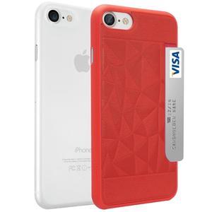 фото Ozaki O!coat Jelly +Pocket 2in1 iPhone 7 Red+Clear (OC722RC)