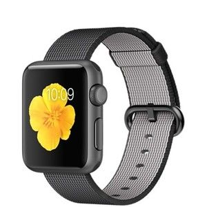 фото Apple Watch Sport 38mm Space Gray Aluminum Case with Black Woven Nylon (MMF62)