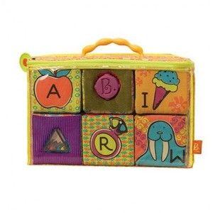 фото Battat Мягкие кубики-сортеры ABC (6 кубиков, в сумочке) (BX1368Z)