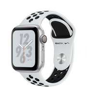 фото Apple Watch Nike+ Series 4 GPS 40mm Silver Alum. w. Platinum/Black Nike Sport b. Silver Alum. (MU6H2)