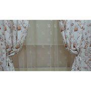 фото ARYA Печатная портьера ''Корабли коричневые'' 14002_v3 150х270 см (103-044)