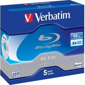 фото Verbatim BD-R DL 50GB 6x Jewel Case 5шт (43748)
