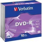 фото Verbatim DVD+R 4,7GB 16x Slim Case 10шт (43657)