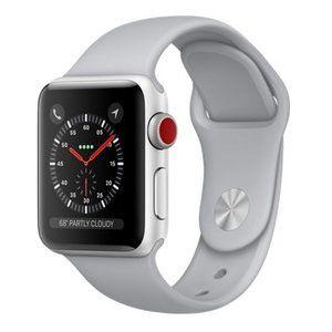 фото Apple Watch Series 3 GPS + Cellular 38mm Silver Aluminum w. Fog Sport B. (MQJN2)