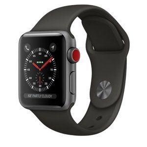 фото Apple Watch Series 3 GPS + Cellular 38mm Space Gray Aluminum w. Gray Sport B. (MR2W2)