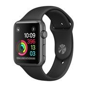 фото Apple Watch Series 2 42mm Space Gray Aluminum Case with Black Sport Band (MP062)