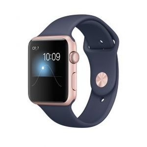 фото Apple Watch Series 2 42mm Gold Aluminum Case with Cocoa Sport Band (MNPN2)