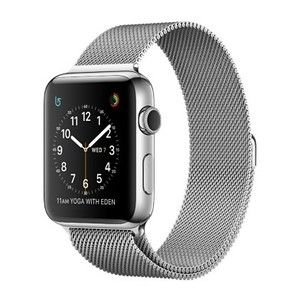 фото Apple Watch Series 2 38mm Stainless Steel Case with Milanese Loop Band (MNP62)