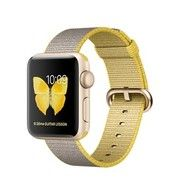 фото Apple Watch Series 2 38mm Gold Aluminum Case with Yellow/Light Gray Woven Nylon Band (MNP32)