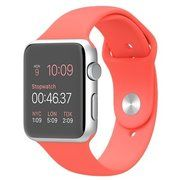 фото Apple Watch Sport 42mm Silver Aluminum Case with Pink Sport Band (MJ3R2)