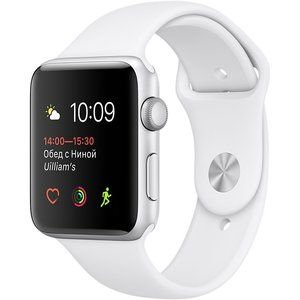 фото Apple Watch Series 1 38mm Silver Aluminum Case with White Sport Band (MNNG2)