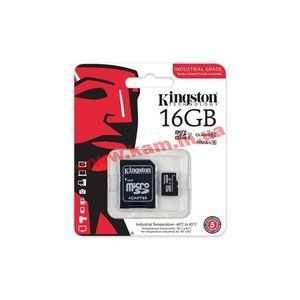 фото Kingston 16 GB microSDHC Class 10 UHS-I Industrial + SD Adapter SDCIT/16GB