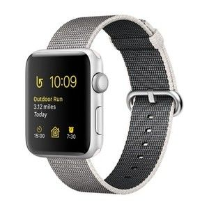фото Apple Watch Series 2 38mm Silver Aluminum Case with Pearl Woven Nylon Band (MNNX2)