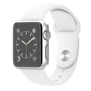 фото Apple 38mm Silver Aluminum Case with White Sport Band (MJ2T2)