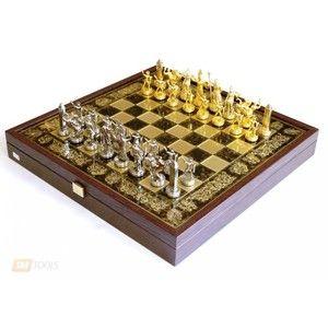 фото Manopoulos Шахматы 'Троянская война' в деревянном футляре (коричневые) (SK4BRO)