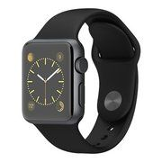 фото Apple 38mm Space Gray Aluminum Case with Black Sport Band (MJ2X2)