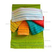 фото Zastelli Махровое полотенце Мозаика белое 70х140 см