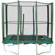 фото KIDIGO (Мастерская Волшебного Мира) Батут прямоугольный 215х150 см с защитной сеткой