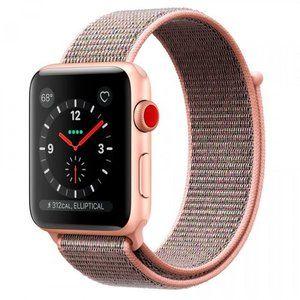 фото Apple Watch Series 3 GPS + Cellular 42mm Gold Aluminum w. Pink Sand Sport L. (MQK72)