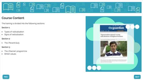 Library radicalisation screenshot