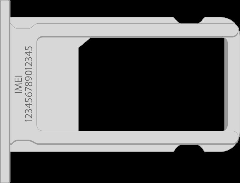 Op een iPhone6s en nieuwer vindt u het serienummer in Instellingen en het IMEI-/MEID-nummer op de simkaarthouder.