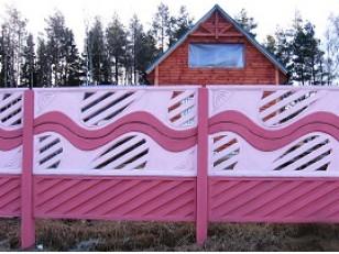 Покраска забора бетонного (еврозабора)